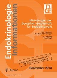 Heft 3/2013 - Deutsche Gesellschaft für Endokrinologie