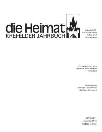 1- 12 - Verein für Heimatkunde Krefeld