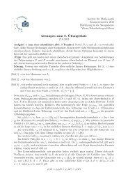 Lösungen zum 8. ¨Ubungsblatt