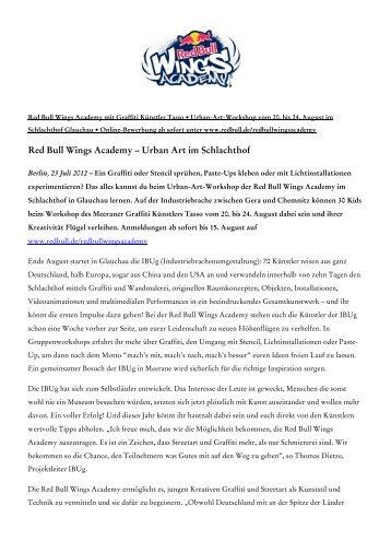 Red Bull Wings Academy – Urban Art im Schlachthof - IBUg