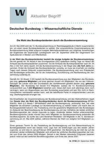 Aktueller Begriff - Deutscher Bundestag