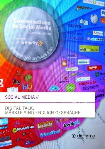 Social Media // digital talk: Märkte Sind endlich geSpräche