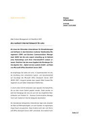 Presse Information dns realisiert Internet Relaunch für ... - iBusiness