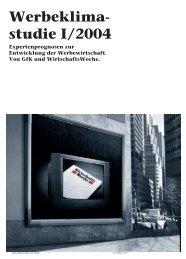 Werbeklima- studie I/2004 - iBusiness