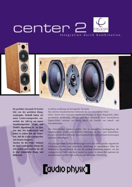 Celsius Center flyer german/english - Audio Physic