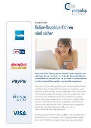 Online-Bezahlverfahren sind sicher - Computop GmbH