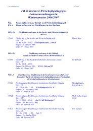 FB 06 Institut 6 Wirtschaftspädagogik Lehrveranstaltungen im ...