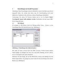 1 Einstellungen im Email-Programm - Universität Hamburg