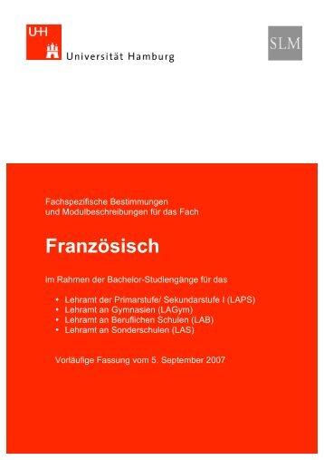 Fachspezifische Bestimmungen - Institut für Berufs- und ...