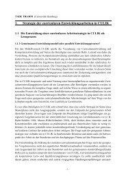 1. Strategie der curricularen Entwicklungsarbeiten in CULIK