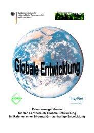 Globale Entwicklung - Bildung für nachhaltige Entwicklung ...