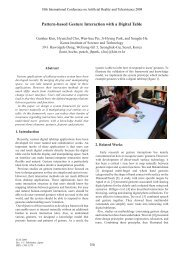Pattern-based Gesture Interaction with a Digital Table - ICAT