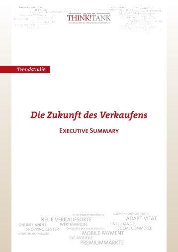 """Trendstudie """"Die Zukunft des Verkaufens"""" - 2b AHEAD ThinkTank"""