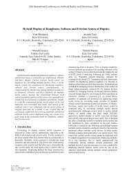 Hybrid Display of Roughness, Softness and Friction Senses ... - ICAT