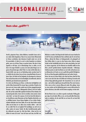 Newsletter 1/2013 zum download - IC TEAM