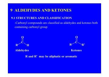 9 ALDEHYDES AND KETONES