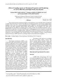 Effect of Coupling Agents on Mechanical Properties and Morphology ...