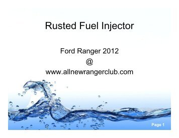 Rusted Fuel Injector