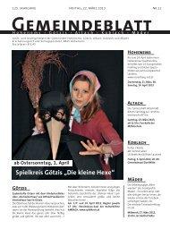 GBM2013 Woche 12 - Gemeinde Mäder