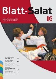 Zeitschrift der Stiftung KBZO Ausgabe Nr. 40, April 2013