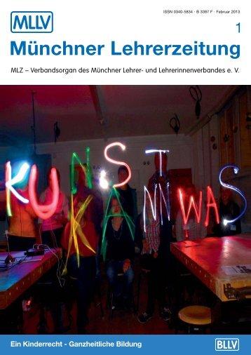 Münchner Lehrerzeitung, Ausgabe 1, 2013 - BLLV