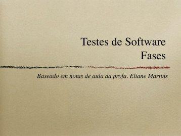 Testes de Software Fases