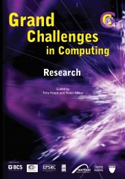 Grand Challenges in Computing - UK Computing Research ...