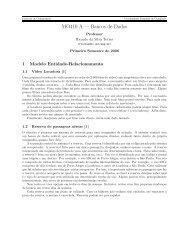Primeira lista de exercícios. - Instituto de Computação - Unicamp
