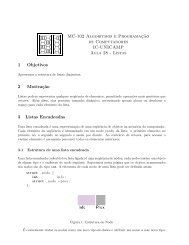 MC-102 Algoritmos e Programaç˜ao de Computadores IC ... - Unicamp