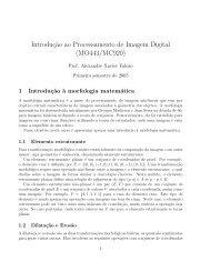 Introducao a Morfologia matematica (MM)