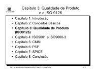 Capítulo 3: Qualidade de Produto (ISO9126) - Unicamp