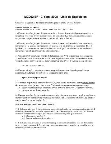 lista de exercícios 1