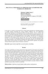 Practical comparison of approximation algorithms for ... - SciELO