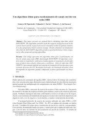 Um algoritmo ótimo para escalonamento de canais em ... - Unicamp