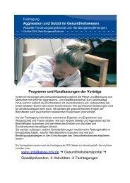 Programm, Kurzfassung der Vorträge und Vortragsfolien Fachtagung