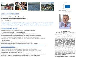 Newsletter Oktober 2013 - Dresdner Agenda 21
