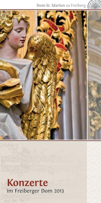 Programmheft 2013 - Ev.-Luth. Domgemeinde St. Marien Freiberg