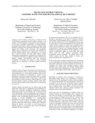 AUDITORY SCENE CUES FOR TRANSLATIONAL SELF-MOTION ...