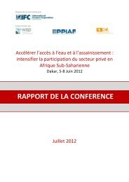 rapport de la conference - The Infrastructure Consortium for Africa