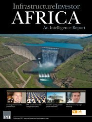 An intelligence report - The Infrastructure Consortium for Africa