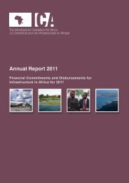ICA Annual Report 2011 - The Infrastructure Consortium for Africa