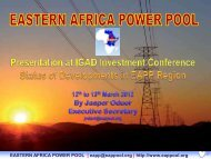eastern africa power pool - The Infrastructure Consortium for Africa