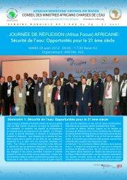 JOURNÉE DE RÉFLEXION (Africa Focus) AFRICAINE: - The ...