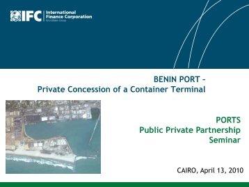 BENIN PORT - The Infrastructure Consortium for Africa