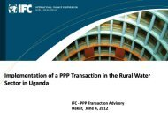 implementation of a ppp transaction in the rural water sector in uganda