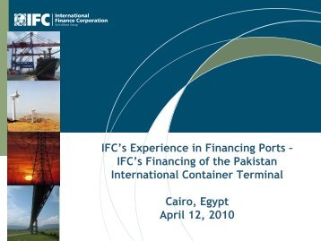 IFC's Financing of the Pakistan International Container Terminal