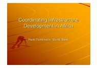 coordinating_infra_dev_in_africa-wb.ppt [Read-Only] - The ...
