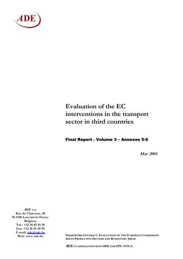 Evaluation of the EC interventions in the transport - European ...