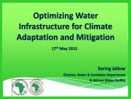 Optimizing Water Infrastructure for Climate Adaptation and Mitigation