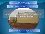 1. Organisation du secteur de l'Hydraulique rurale au Sénégal - The ...